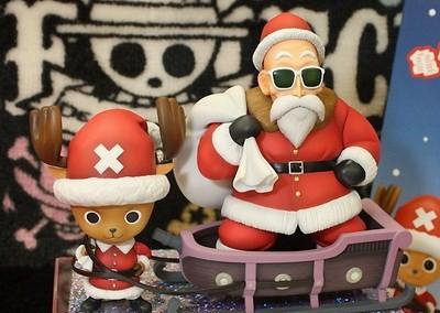 Roshi and Chopper Christmas One Piece Dragon Ball
