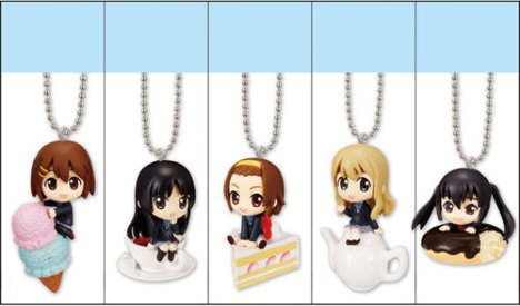K-ON! Sweets Mascot Pre-Painted Candy Toys