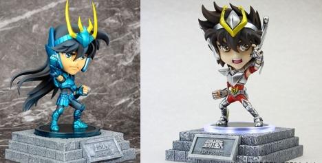 Pegasus Seiya and Dragon Shiryu - Cosmos Burning Collection - Saint Seiya