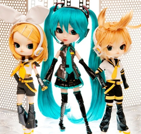 Pullip Hatsune Miku and Dal Kagamine Rin & Len - Character Vocal Series