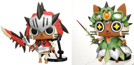 Airou Reia and Reus Neko Series - Monster Hunter Portable 3rd Moving!