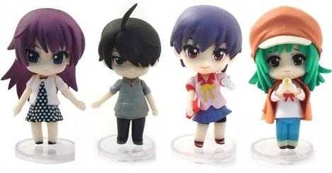 Araragi, Hitagi, Nadeko and Tsuruga Nendoroid Petite Bakemonogatari