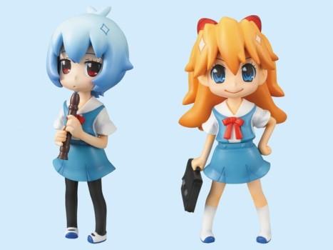 Asuka and Rei - Neon Genesis Evangelion - Putit Eva @ School