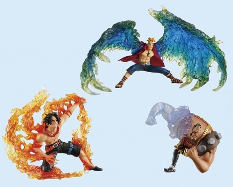 Marco, Portgas D. Ace, Jozu and Marshall D. Teach - One Piece Super Effect Figure Vol.4
