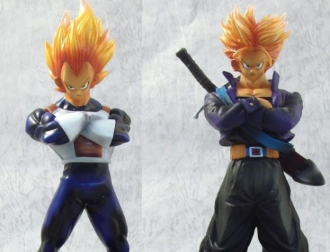 Vegeta and Future Trunks - Dragon Ball Kai DX - Legend of Saiyan