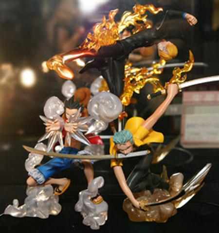 Sanji, Luffy and Zoro - One Piece Super Effect Diorama