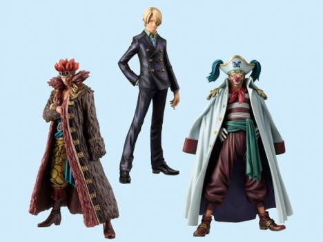 Sanji, Buggy and  Eustass 'Captain' Kid - One Piece The Grandline Men Vol.7