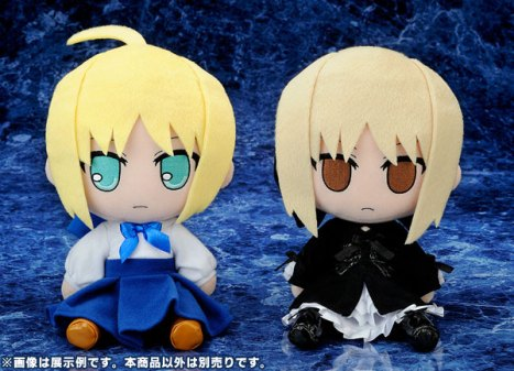 Saber and Saber Alter Ver. - Nendoroid Plus Plush Series