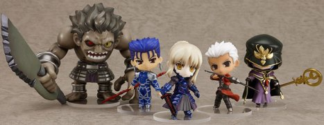 Nendoroid Petite Fate/Stay Pre-Painted PVC Figure Extension Set