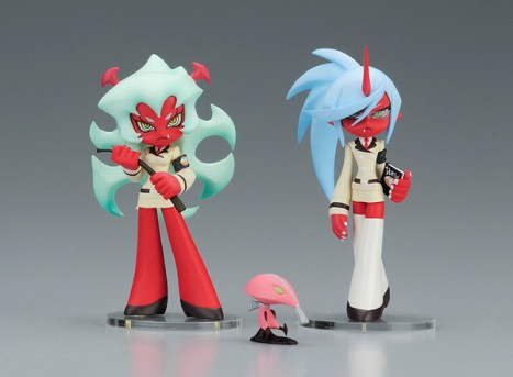 Scanty & Knee socks with Fastener - Twin Pack+ Panty & Stocking with Garterbelt Non Scale Pre-Painted PVC Figure