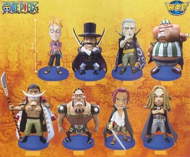 Marco, Lucky Roo, Jozu, Vista, Red-Haired Shanks, Yasopp, Ben Beckman and Edward Newgate One Piece World Collectable Pre-Painted PVC Figures Vol.17