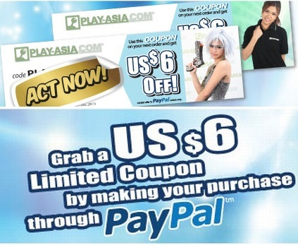 Get US$ 6 off discount coupon for your next Play-Asia shopping!