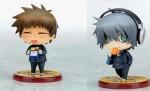 Keisuke & Akira After School Ver. - Togainu no Chi - True Blood Non Scale Pre-Painted Mini Figure Set Exclusive Kotobukiya One Coin 6