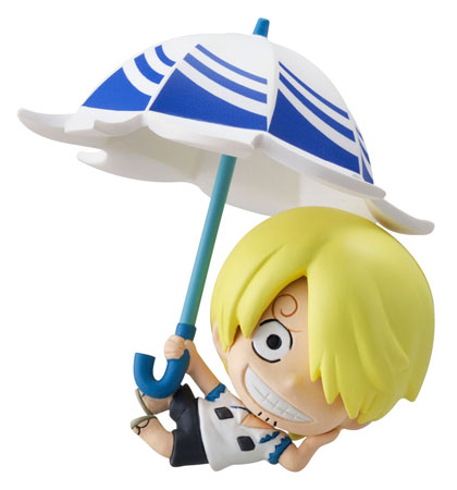 petit chara land one piece sky parasol ver figures luffy. Black Bedroom Furniture Sets. Home Design Ideas