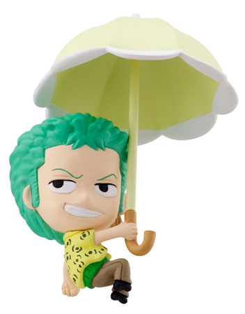 petit chara land one piece sky parasol ver figures luffy brook robin nami franky zoro sanji. Black Bedroom Furniture Sets. Home Design Ideas