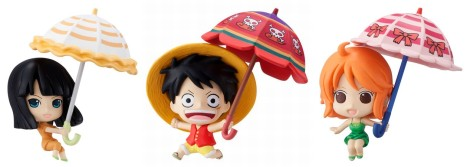 Petit Chara Land One Piece sky! parasol ver. Figures
