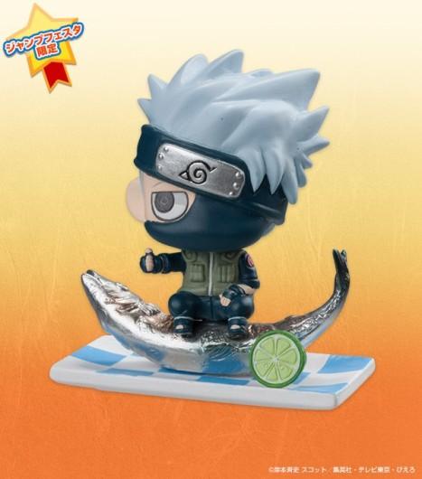 Naruto, Kakashi, Sasuke - Naruto Shippuuden - Naruto Petit Chara Land - Jump Festa 2014 Swirl Lunch Ver. 3