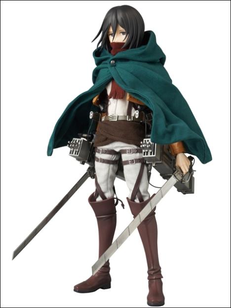 Mikasa Ackerman RAH - Shingeki no Kyojin 16 Pre-Painted Figure Real Action Heroes 8