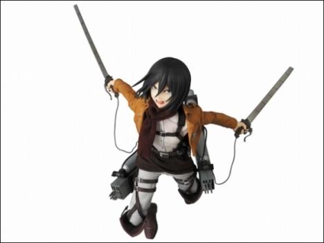 Mikasa Ackerman RAH - Shingeki no Kyojin 16 Pre-Painted Figure Real Action Heroes 9