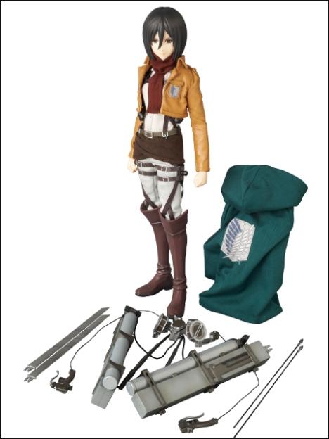 Mikasa Ackerman RAH - Shingeki no Kyojin 16 Pre-Painted Figure Real Action Heroes